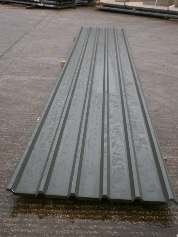 20 ft x mtr dark green polymer coated roofing sheets for Polymer roofing